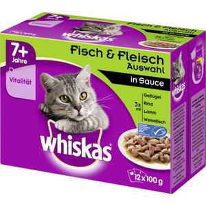 Whiskas 7+ Fisch & Fleischauswahl in Sauce Multipack 2.74 EUR/1 kg