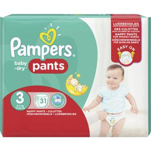Pampers Baby Dry Pants Baby Dry Sparpack, Gr. 3 Midi