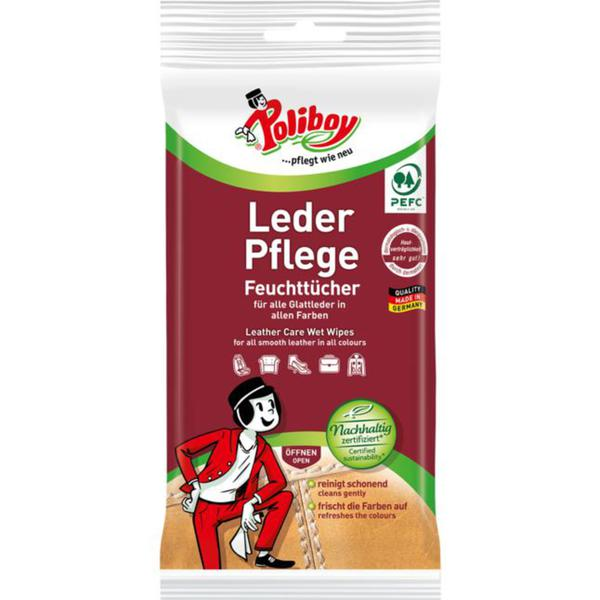 Poliboy Leder Pflege Feuchttücher