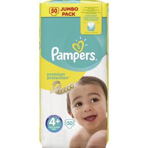 Pampers Windeln Premium Protection Jumbo Pack, Größe 4+ Maxi Plus