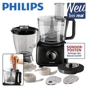 Küchenmaschine HR 7628/90 • 2 Geschwindigkeiten + Puls-Funktion • 2, 1-Liter-Behälter • 1,75-Liter-Standmixer-Aufsatz