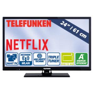"24""-LED-HD-TV L24H282N4CW • HbbTV, H.265,2 HDMI-Eingänge • USB-/CI+-Anschluss • Stand-by: 0,5 Watt, Betrieb: 19 Watt • Maße: H 33,9 x B 55,4 x T 6,1 cm • Energie-Effizienzklasse A+ (Spe"