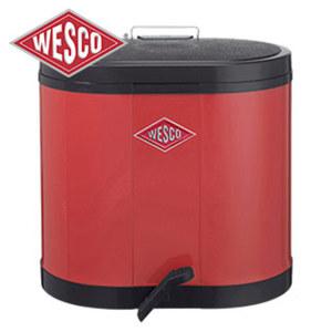 Treteimer mit 2 Abfallbehältern, je ca. 15 Liter Inhalt, Maße: ca. H 43 x B 45 x T 36 cm, je