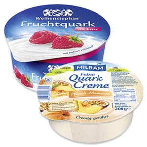 Milram Feine Quark Creme oder Weihenstephan Fruchtquark versch. Sorten, jede 200/150-g-Schale