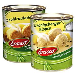 Erasco Königsberger Klopse oder Kohlrouladen  und weitere Sorten, jede 800-g-Dose