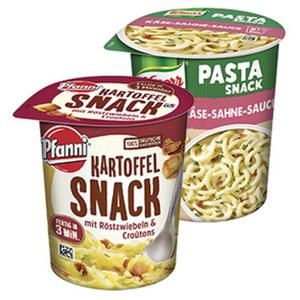 Knorr Pasta Snack oder Pfanni Kartoffel Snack versch. Sorten, jeder Becher