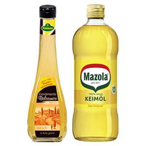 Mazola Reines Keimöl 750 ml oder Kühne Exquisit Balsamico Essig 500 ml, versch. Sorten, jede Flasche