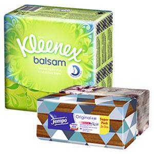 Kleenex Balsam Taschentücher oder Tempo Duo Box jede 24 x 9er-Packung/2 x 80er-Box