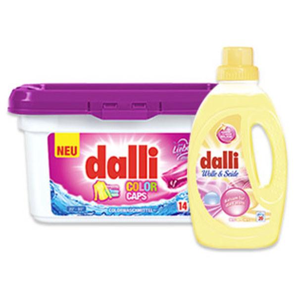 dalli Fein- und Vollwaschmittel 14/18/20 Waschladungen, versch. Sorten jede Packung/Flasche