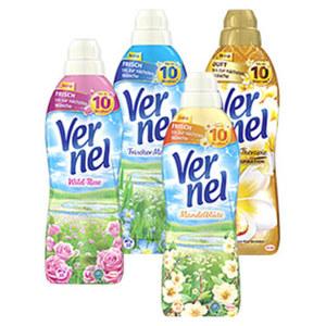 Vernel Weichspüler 33 Waschladungen, versch. Sorten, jede Flasche, ab 4 Flaschen, je