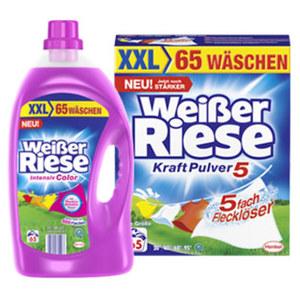 Weißer Riese Waschmittel 65 Waschladungen, versch. Sorten, jede Packung/Flasche