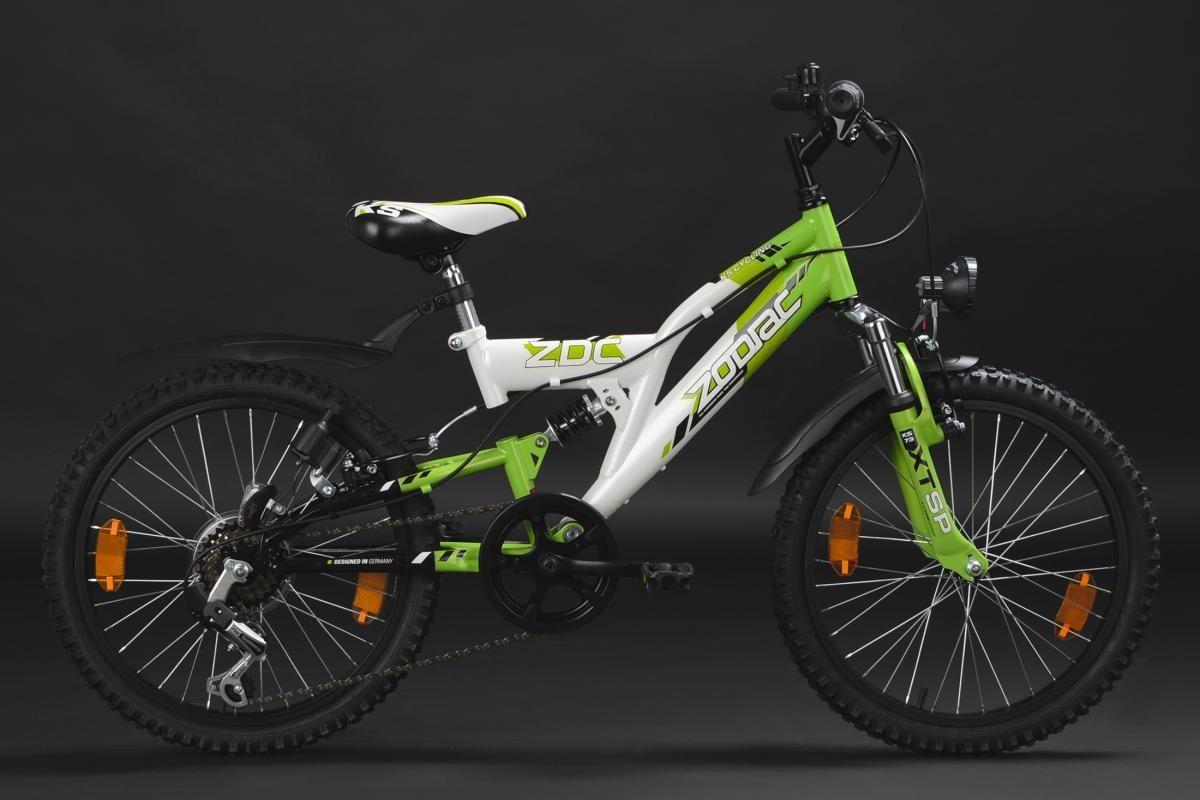 Bild 4 von KS Cycling Kinderfahrrad Mountainbike Fully 20'' Zodiac weiß-grün RH 31 cm