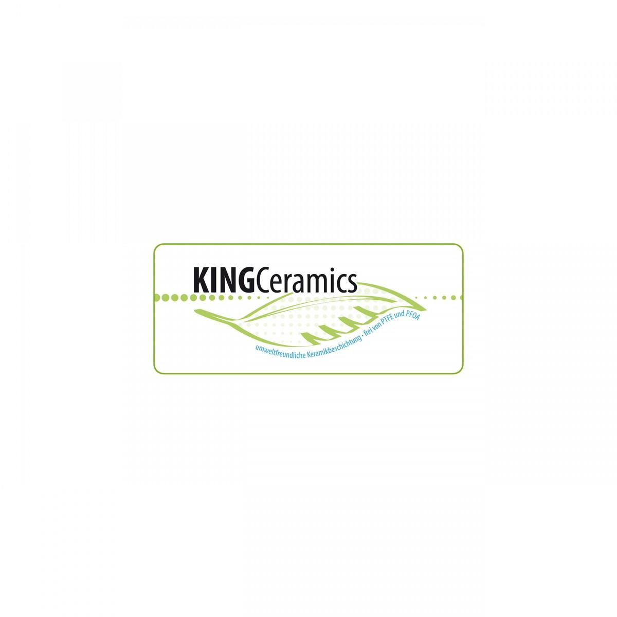 Bild 2 von KING Aluguss Bratpfanne 28 cm / Rot / Keramikbeschichtung