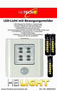 Heitech LED-Licht mit Bewegungsmelder