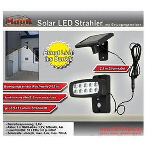 Mauk Solar LED Strahler Beleuchtung mit Bewegungsmelder 10LED`s