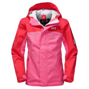 Jack Wolfskin Hardshell Mädchen Topaz Texapore Jacket Girls 140 hot pink