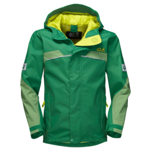 Jack Wolfskin Hardshell Jungen Topaz Texapore Jacket Boys 140 leaf green