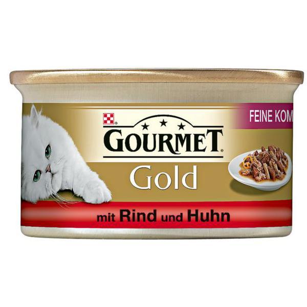 Gourmet Gold Feine Komposition mit Rind & Huhn 0.58 EUR/100 g (12 x 85.00g)