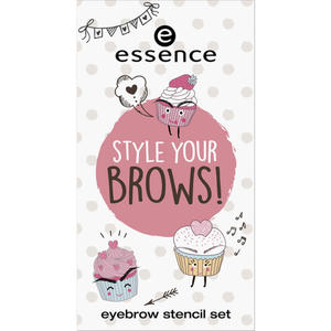 essence style your brows! eyebrow stencil set 01
