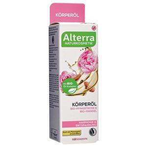 Alterra Körperöl Bio-Pfingstrose & Bio-Mandel