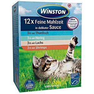 Winston Feine Mahlzeit in delikater Sauce mit Fisch Mult 1.66 EUR/1 kg