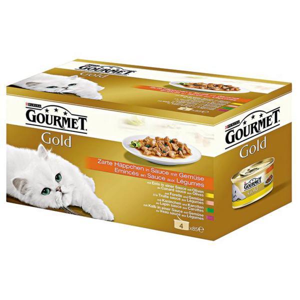 Gourmet Gold Zarte Häppchen in Sauce mit Gemüse Multipac 4.26 EUR/1 kg