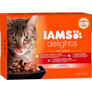 IAMS Delights Adult Land Collection in Sauce Multipack 7.34 EUR/1 kg