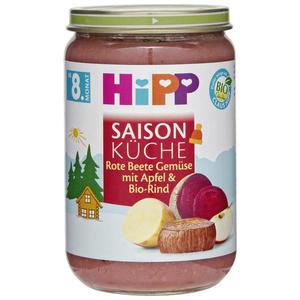 HiPP Saison Küche Bio Rote Beete Gemüse mit Apfel & Bio 0.57 EUR/100 g (6 x 220.00g)