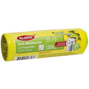 RUBIN Duft-Müllbeutel mit Tragegriffen 25 l