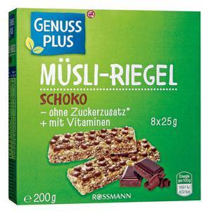 GENUSS PLUS Müsli-Riegel Schoko 0.55 EUR/100 g (9 x 200.00g)