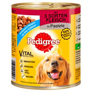 Pedigree Hundefutter 3 Sorten Fleisch Classic 800g