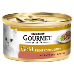 Gourmet Katzenfutter Gold Feine Komposition mit Ente & Truthahn 85g