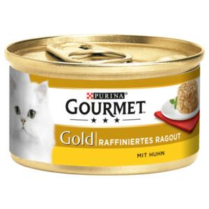 Gourmet Katzenfutter Gold Raffiniertes Ragout mit Huhn 85g