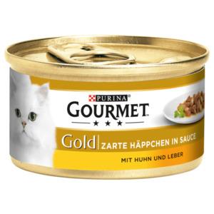 Gourmet Katzenfutter Gold Zarte Häppchen in Sauce mit Huhn & Leber 85g
