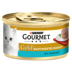 Gourmet Gold Katzenfutter Ragout mit Thunfisch 85g