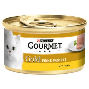 Gourmet Katzenfutter Gold Feine Pastete mit Huhn 85g