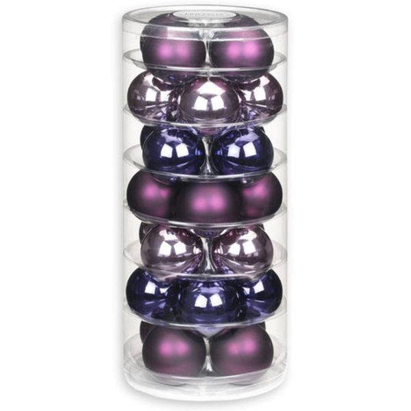 Christbaumkugeln Violett.Christbaumkugeln Lila Flieder Violett Glas 28 Stuck 6 Cm