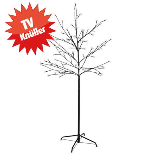 Weihnachtsbeleuchtung Led Baum.Led Baum Mit Blüten Warmweiß 150 Cm