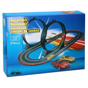Autorennbahn 576cm mit 2 Loopings