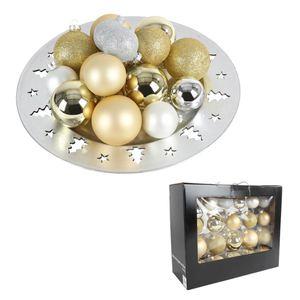 Weihnachtsbaumkugeln aus Glas Gold/Silber 42er-Set