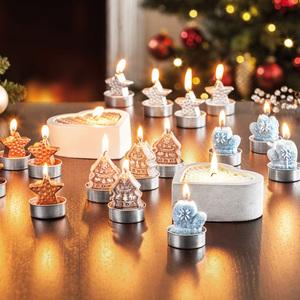 Bella Casa Weihnachtliche Teelichte / Kerzen