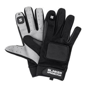 Blinkerhandschuh schwarz/grau XS/S