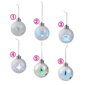 LED-Glaskugel in Silberoptik
