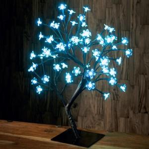 Bonsai-Lichterbaum 45 cm mit 64 LED-Blüten eisblau batteriebetrieben