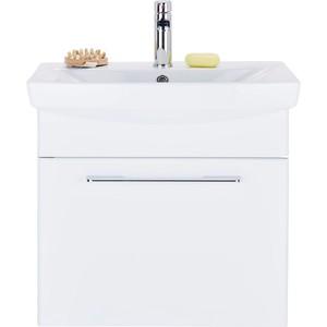 Waschtischunterschrank in Weiß/Dunkelgrau