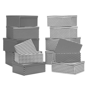 Box mit Deckel Paul aus Papier ca. 30x22x11cm