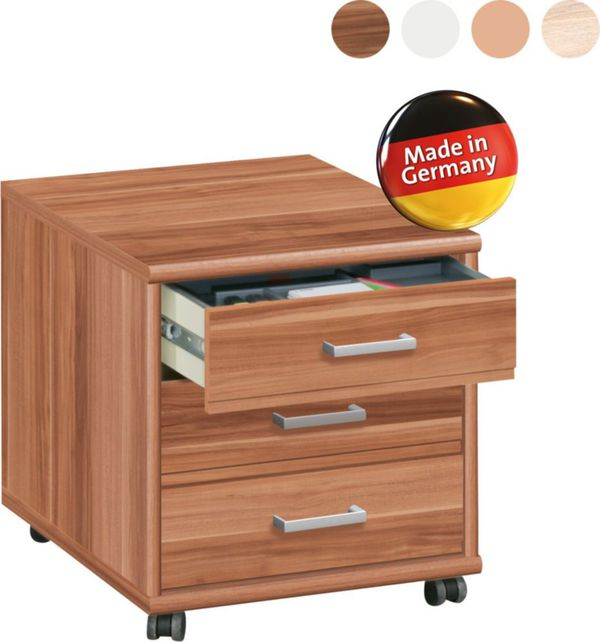 cs schmal rollcontainer soft plus 43 in nussbaum von netto marken discount f r 94 00 ansehen. Black Bedroom Furniture Sets. Home Design Ideas