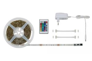DI-KA LED Flexband RGB 5 m 1 x 150 RGB LED, weiss, inkl  Fernbedienung
