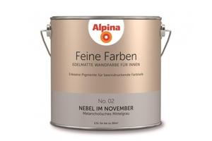 Alpina Innenfarbe Feine Farbe Nebel im November, edelmatt 2,5 l