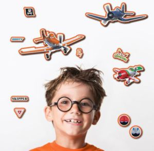 Wandsticker 3D Planes, 11-tlg.